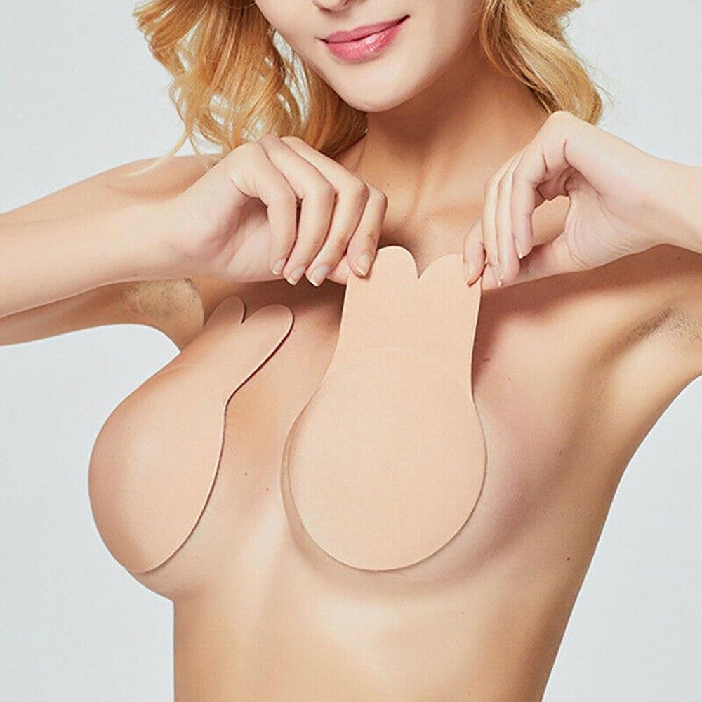 Swimwear Women Bikini Swimming Suit Bra Pads Self Adhesive Silicone Instant Lift Up Tape Chest Sticker Bikini Swimsuit 2019