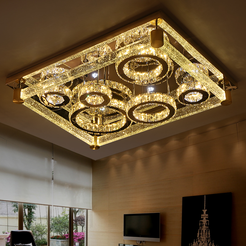Led ceiling light rectangle crystal lamp modern brief luxury of the bubble crystal column lamps j best price modern fashion crystal lamp rectangle restaurant ceiling lamp sitting room partition lamps led ceiling light