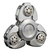 Metal Alloy Tri Spinner EDC Spin Fidgets Anti Stress Sensory Metal Finger Spinner Reduce Pressuse Hand