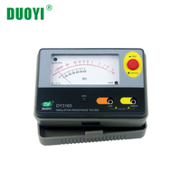 DUOYI DY3165 Electrical Resistance Meters 500V 2000Mohm Analogue Megger Insulation Tester with Electronic Pointer Circuit Test