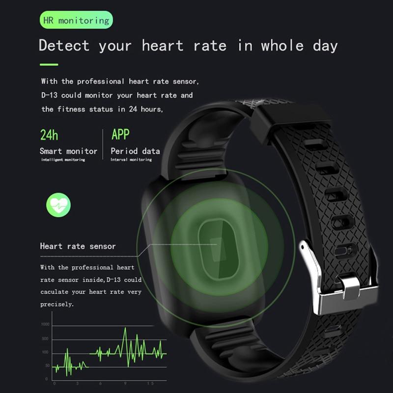 D13 Smart Watch Bracelet Heart Rate Tracker Pedometers Blood Pressure IP67 Waterproof 116 Plus Wirstband For D13 Smart Watch Bracelet Heart Rate Tracker Pedometers Blood Pressure IP67 Waterproof 116 Plus Wirstband For IOS Androd PK IWO 8