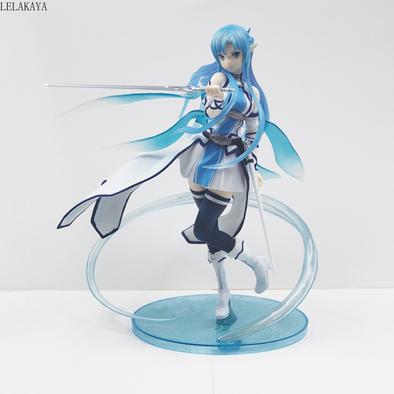 1 pièces japonais Anime épée Art en ligne Asuna Yuuki eau esprit Kirito Asuna filles Sexy Ver. 1/7 figurine en pvc modèle jouets poupée