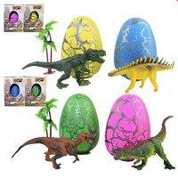 4 צבע קסם צעצועי גידול ביצת פסחא ביצת דינוזאור בקיעה בקיעת ביצת פסחא מתנת צעצועי ילדי צעצוע חידת קיד מצחיק T215