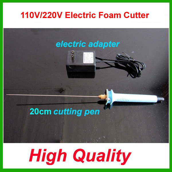 Free shipping 1pc 20cm Electric Foam Hot Knife Styrofoam Cutter Pen+ Electronic Voltage Transformer Adapter (EU plug available) free shipping 1pc 15cm electric foam hot knife styrofoam cutter pen electronic voltage transformer adapter eu plug available