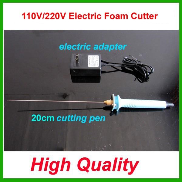 Free shipping 1pc 20cm Electric Foam Hot Knife Styrofoam Cutter Pen+ Electronic Voltage Transformer Adapter (EU plug available)