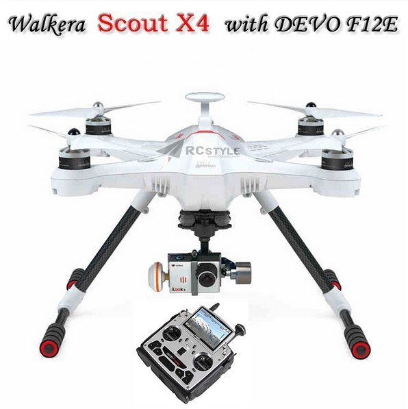 Walkera Scout X4 GPS RC Мультикоптер RTF Devo F12E ILook + БЕЛЫЙ FPV2 Поддержка Наземной Станции F10495