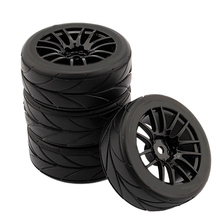 4Pcs 1/10 Rubber Tire Rc Racing Car Tires On Road Wheel Rim Fit For Hsp Hpi 9068-6081 Rc Car Part 2020 4pcs 2pcs 150mm wheel rim and tires for 1 8 monster truck traxxas hsp hpi e maxx savage flux racing rc car accessories hot