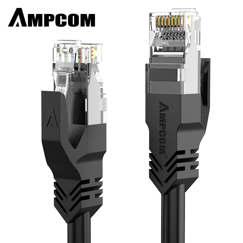 AMPCOM Ethernet Cable RJ45 Cat6 Lan Cable UTP CAT 6 RJ 45 Network Cable Patch Cord For Desktop Computers Laptop Modem Router