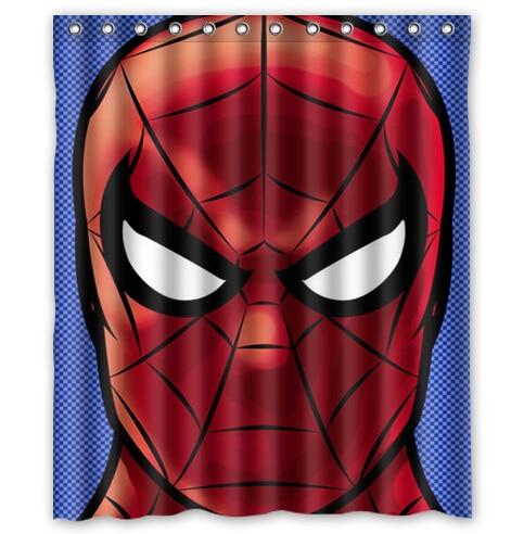 Marvel Superhero Iron Man Batman Hulk Spider Custom Waterproof Shower Curtain 60 X 72 Free Shipping Bathroom Decor In Curtains From Home