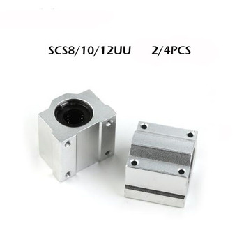 2/4pcs/lot SC8UU SCS10UU SCS12UU Linear Ball Bearing 3D Printer Table Motion Bearing Slide CNC Part Router rodamiento lineales image