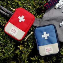 New Portable Mini Drug Storage Bag Organizer Outdoor Travel Car Home First Aid Bag Emergency Survival Kit Medical Package 3Color