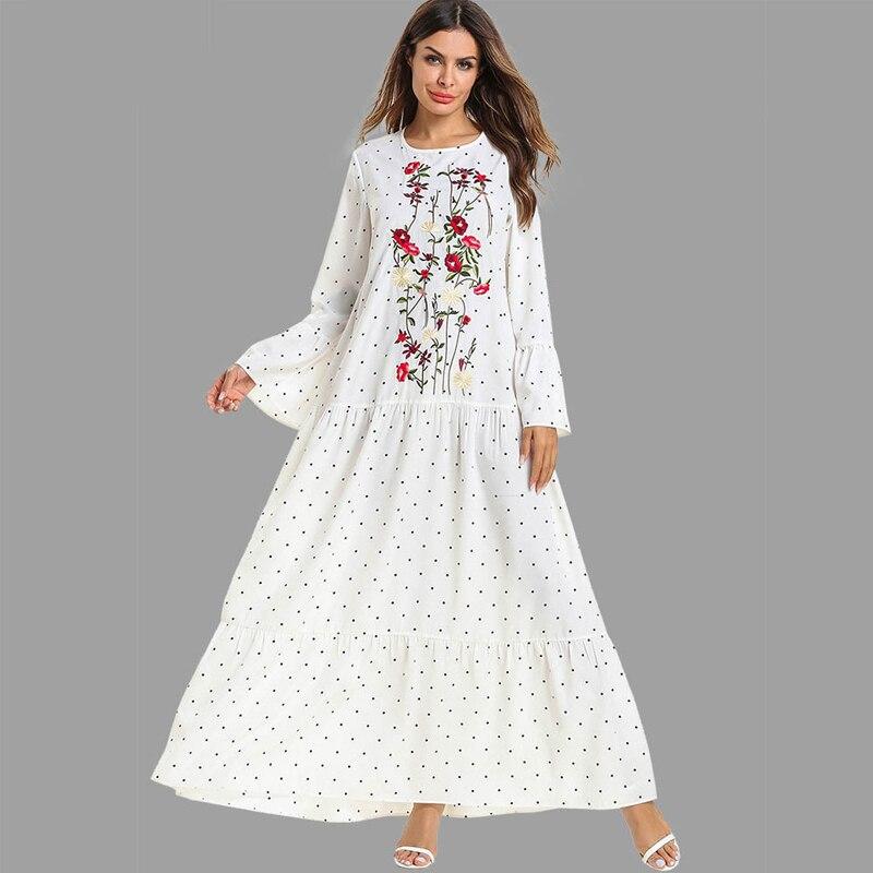 White Abaya Dubai Turkey Islam Muslim Hijab Dress Kaftan Abayas Women Jilbab Caftan Ramadan Robe Elbise Giyim Islamic Clothing