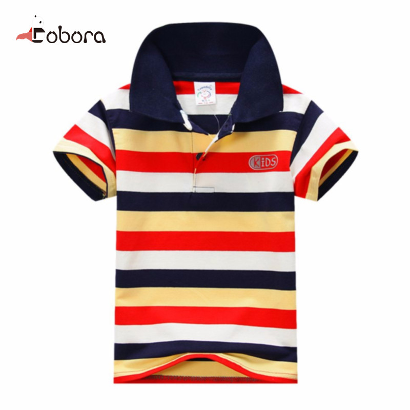 Children Kids Polo Shirts Baby Boys Kids Tops T-Shirt Summer Short Sleeve Striped Clothing Designer Boys Clothes baby shirt boy