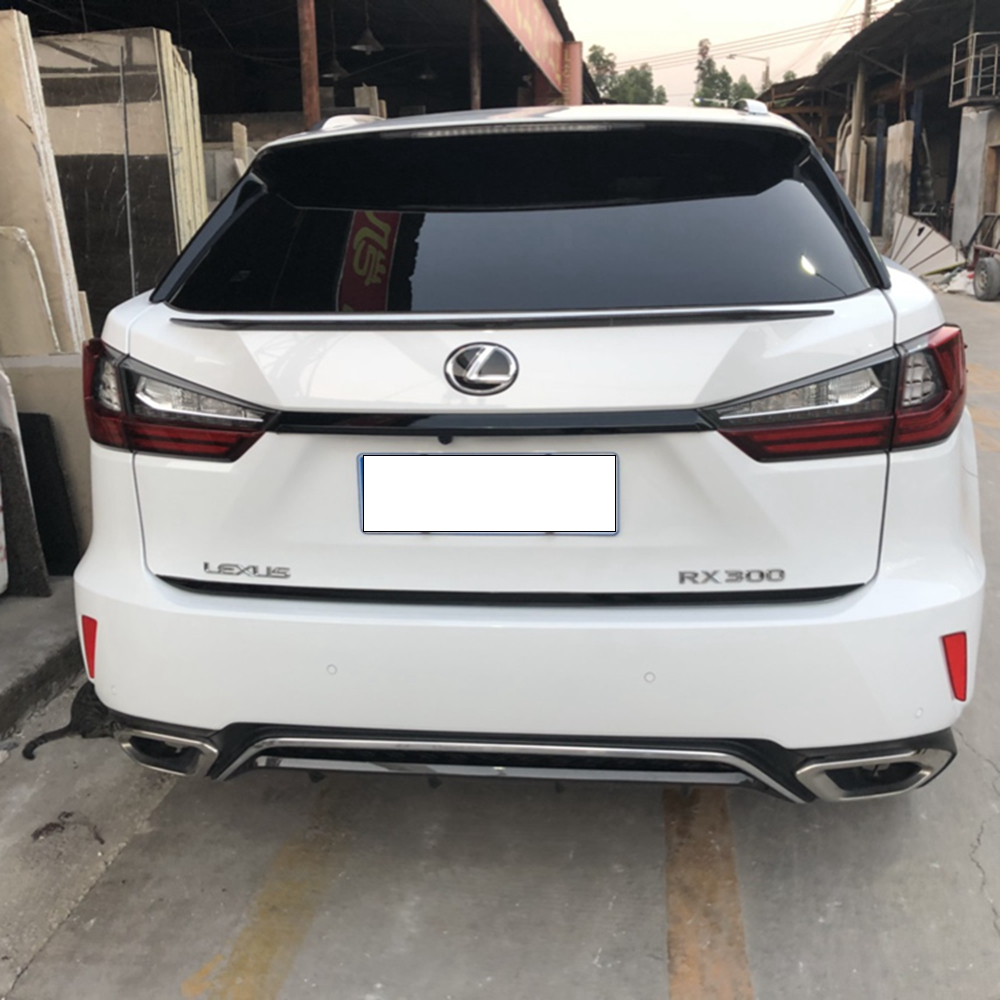 MONTFORD ABS Plastic Unpainted Color Rear Trunk Boot Wing Rear Lip Spoiler For Lexus <font><b>RX200t</b></font> RX450h RX 2016 2017 2018 Car Styling image