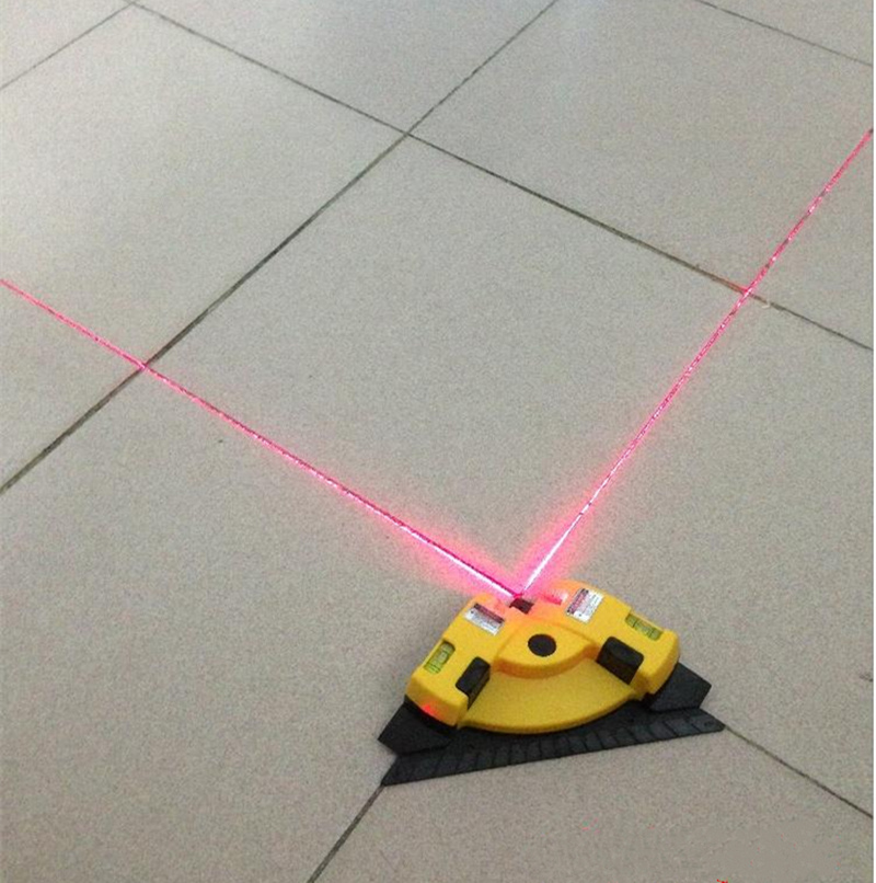 High-precision self-leveling lines 90-degree right-angle laser ground infrared level instrument measurement square laser marking