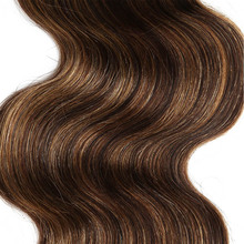 Rebecca Remy Brazilian Body Wave Human Hair Bundles 1 PC Pre-Colored P4/27 P1B/30 P4/30 Brown Hair Extensions For Salon 113g