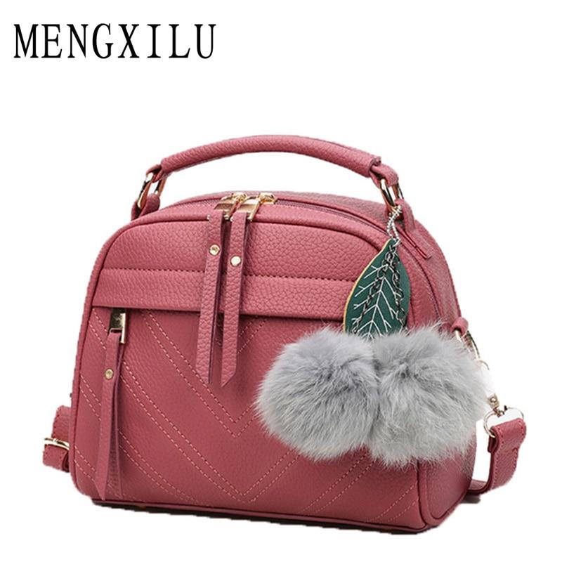 2018 Fashion Hair Fur Women Bags Handbags Women Famous Brand Designer Leather Crossbody Bag For Women Messenger Bag Ladies Sac