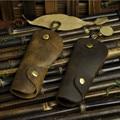Высокое качество 100% crazy-лошадь коровья кожа мужчины ключи от машины бумажник износостойкой чехол для мужчин держатель сумка