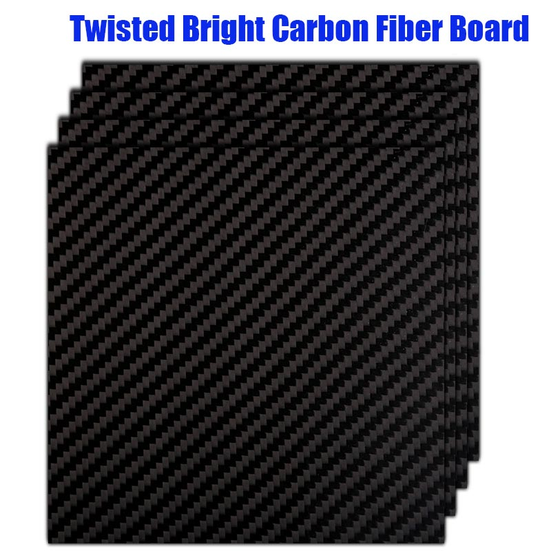 MIZEKONDA 400 500mm Real Carbon Fiber Plate Panel Sheets 0 2mm 0 5mm 0 8mm 1mm Thickness Composite Hardness Material For RC in Parts Accessories from Toys Hobbies