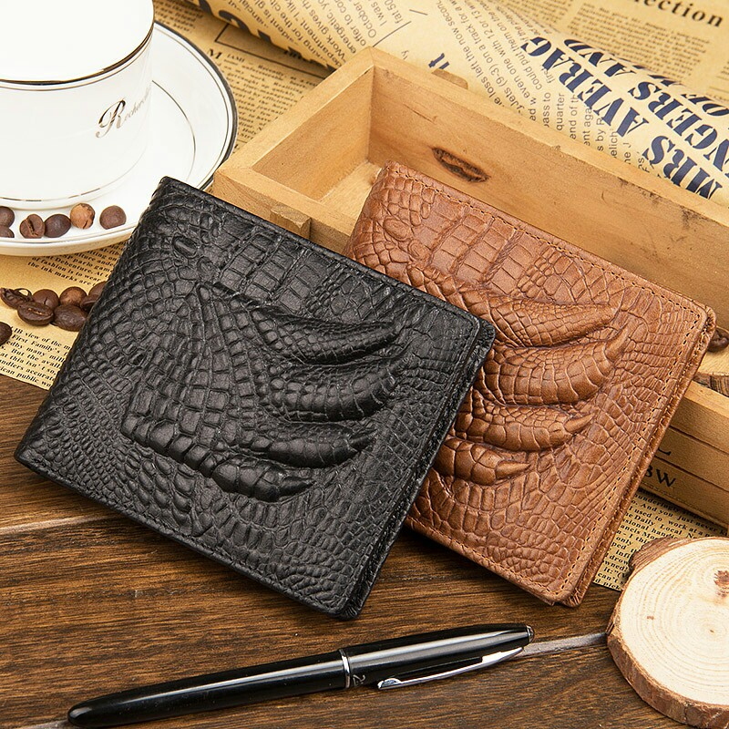 baellerry newest men's short section crocodile claw pattern
