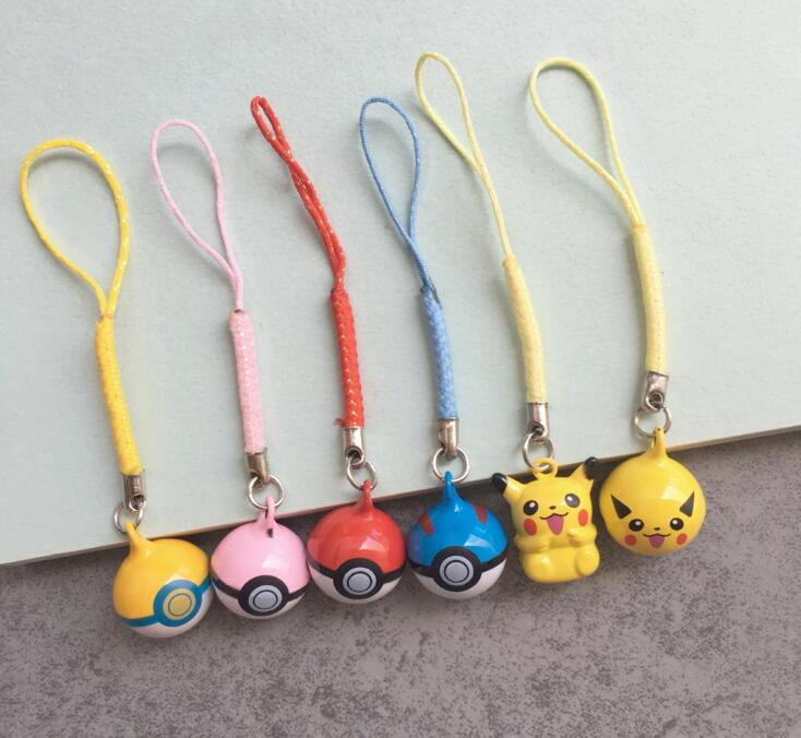 Cute Pikachu Bell Charm Purse Handbag Alarm New Coll Charm 100pcs
