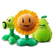 30 см Растения против Зомби плюшевые украшения игрушки chomper 2016 Новых Растения против. Зомби 2 фигурки горох подсолнечник Дыни фаршированные плюшевые игрушки