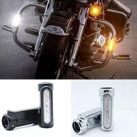 1 pair White Amber LED Motorcycle Highway Bar Switchback Driving Light for Victory Crash Bars For motor Davidson Touring