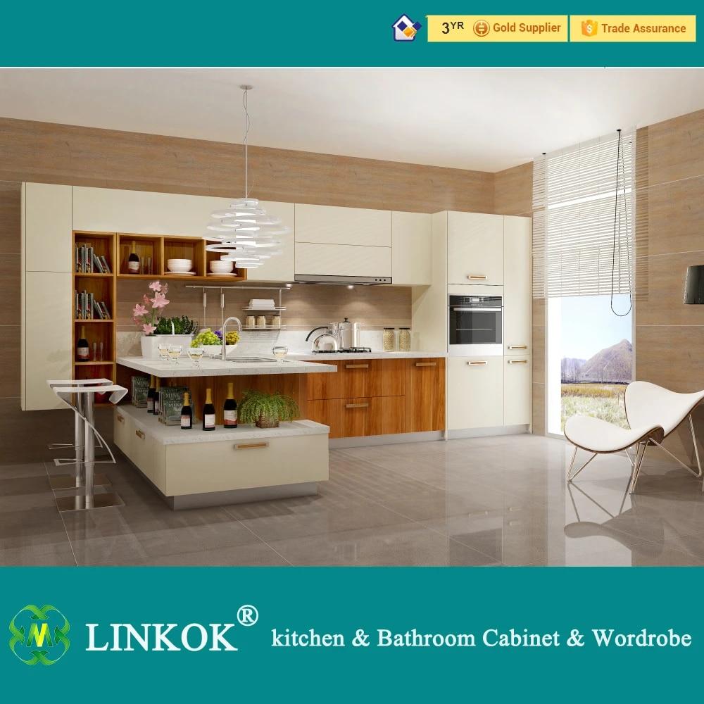 Linkok Furniture Kitchen Furniture Modern Kitchen Cabinet With Eating Bar Kitchen Furniture Cabinetcabinet Furniture Aliexpress