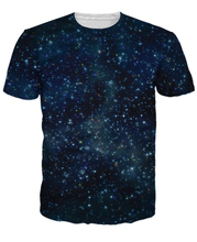 Galaxy T-Shirt Universe Sexy Tee Trippy Interstellar Design Vibrant T Shirt Women Men Summer Style Tshirt Casual Tees Tops R2862