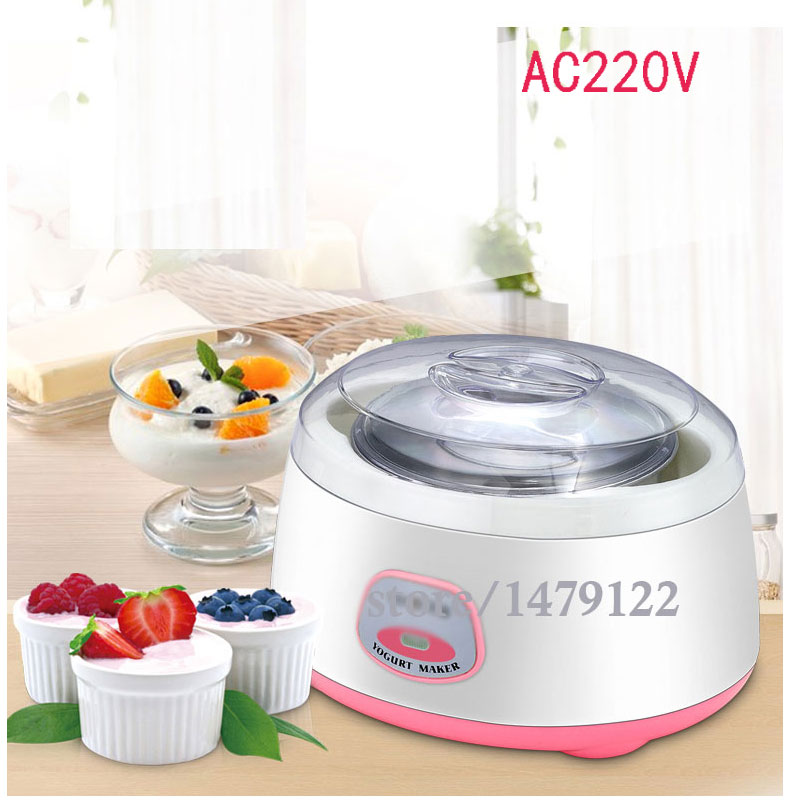 Multifunction Yogurt Machine Mini Automatic Yogurt Maker 1L Capacity Electric Kitchen Appliances Breakfast salter air fryer home high capacity multifunction no smoke chicken wings fries machine intelligent electric fryer