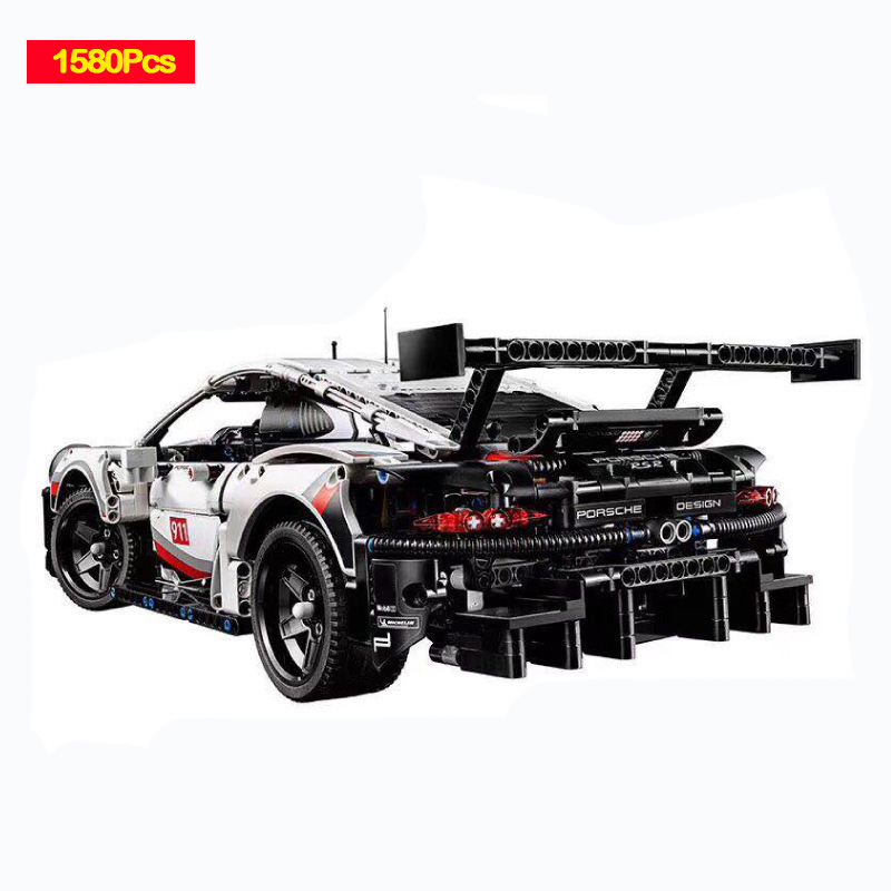Décool 13387 technologie machines Porsche 911rsr Sports voiture blocs de construction Compatible Legoed 42096 jouets D25