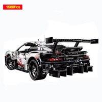 Decool 13387 Technology Machinery Porsche 911rsr Sports Car Building Blocks Compatible Legoed 42096 Toys D25