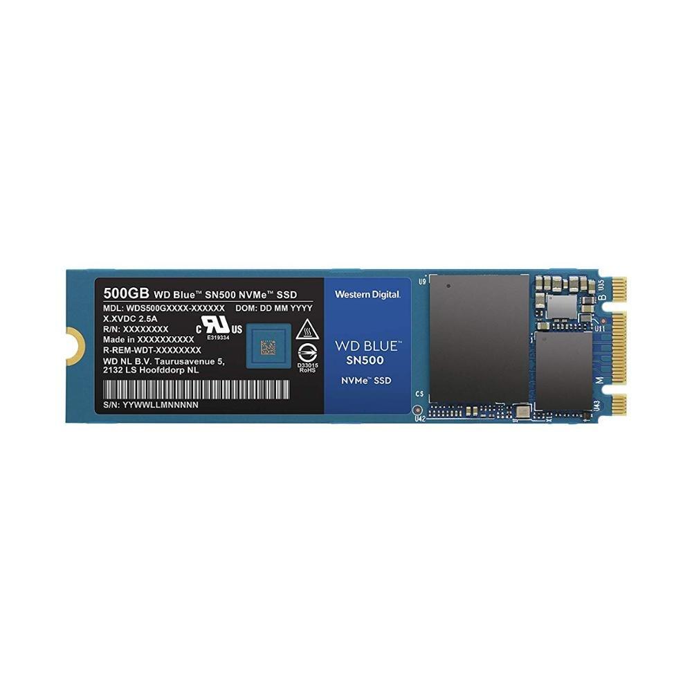 Western Digital Blue SN500 SSD накопитель 250 ГБ 500 Гб M.2 2280 NVMe PCIe Gen3* 2 Внутренний твердотельный накопитель для ПК