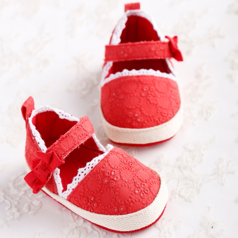 New Summer lace baby girl princess prewalker shoes pure color soft sole infant leisure first walkers girl toddler bebe sapatos