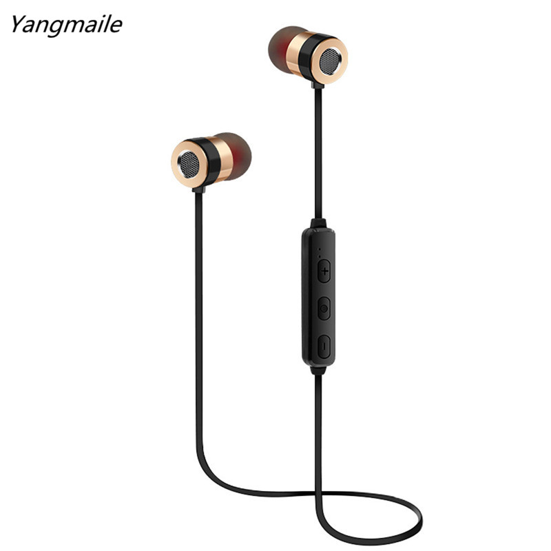 Yangmaile Bluetooth Wireless Headphone Earphone Stereo Sports Earbuds In-Ear Headset Free Shipping H1T07