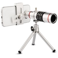 Super Universal Optical Zoom 18X Telephoto Lens For iPhone Mobile Phone Telescope Camera with Tripod For Huawei for Xiaomi