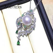 Collar de plata de ley 925 con perlas naturales de agua dulce, colgante de cadena de circón, joyería Bohemia nupcial