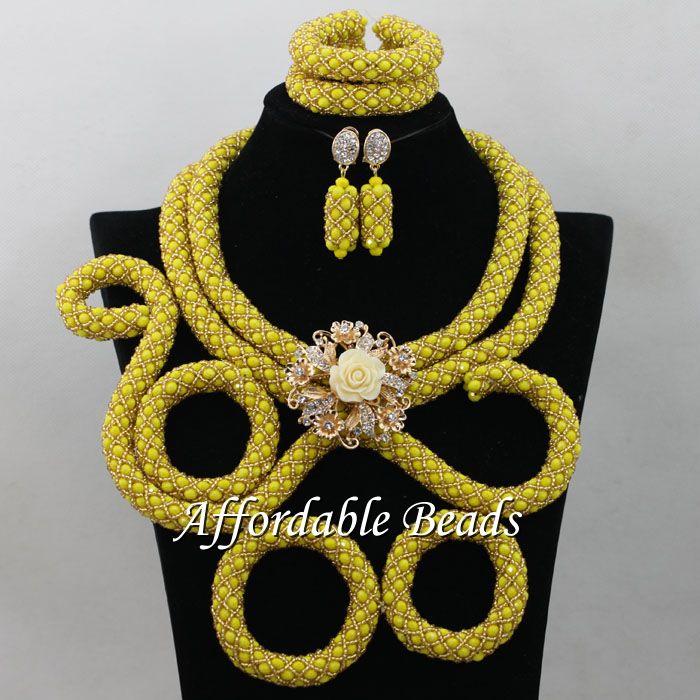 Здесь продается  Bridal African Jewelry Sets Shining Nigerian Wedding Necklace Unique Style Wholesale NCD112  Ювелирные изделия и часы