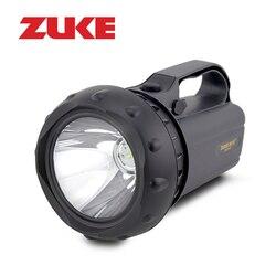 ZUKE 15w Rechargeable Flashlight Led Spotlight Long-range Searching Lamp Super Bright Torch Outdoor Emergency Night Lamp