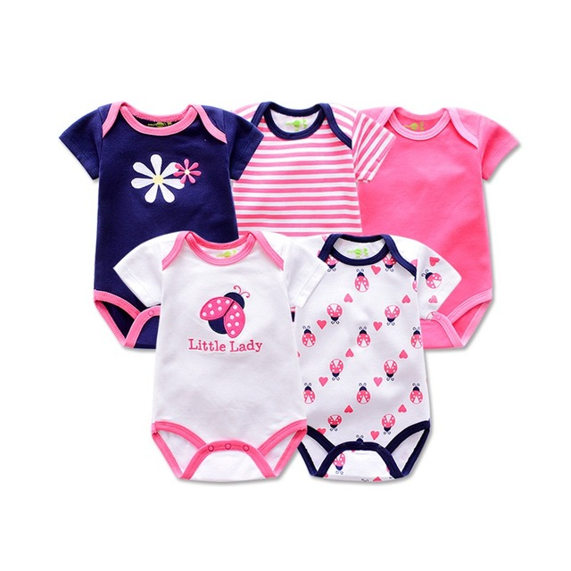 571941857 5 Pieces lot 2019 Brand Baby rompers Animal style infant girl ...
