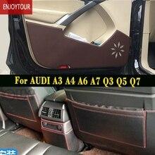 Car  pads  front rear door  Seat Anti-kick mat Accessories For audi A3 A4 B8 A5 A6 A1 A7 A8l Q3 Q5 Q7 TTS