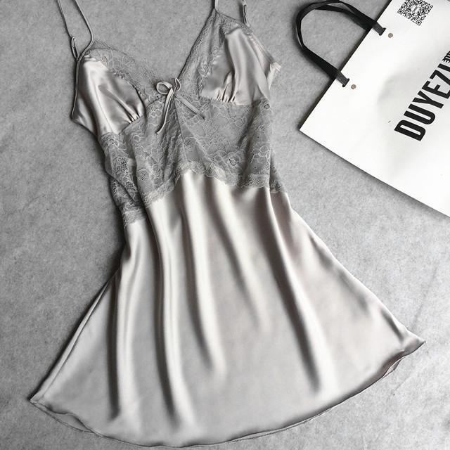 Spring &summer style Sexy nightgown sleepwear home suits drop shipping beautiful silk pijamas lounge clot