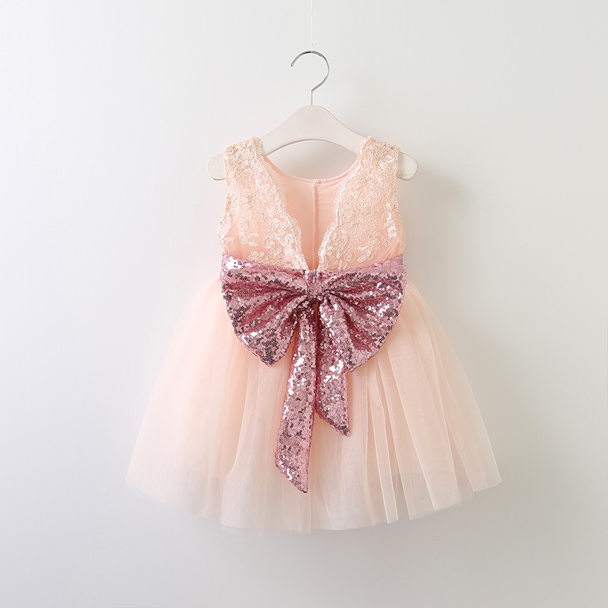 a9920c4988 2017 baby girl glitter bow tutu dress sleeveless sequined bow lace ...