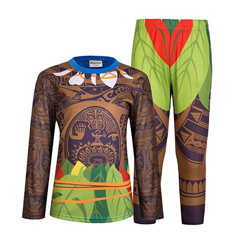 Moana Maui Pižame Set pijamas otroška oblačila otroška oblačila - Otroška oblačila
