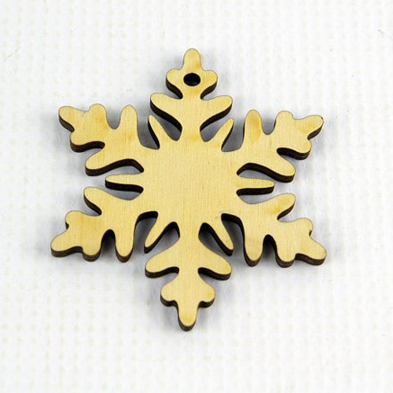 50x laser cut hollow carving wood snowflake ornament ...