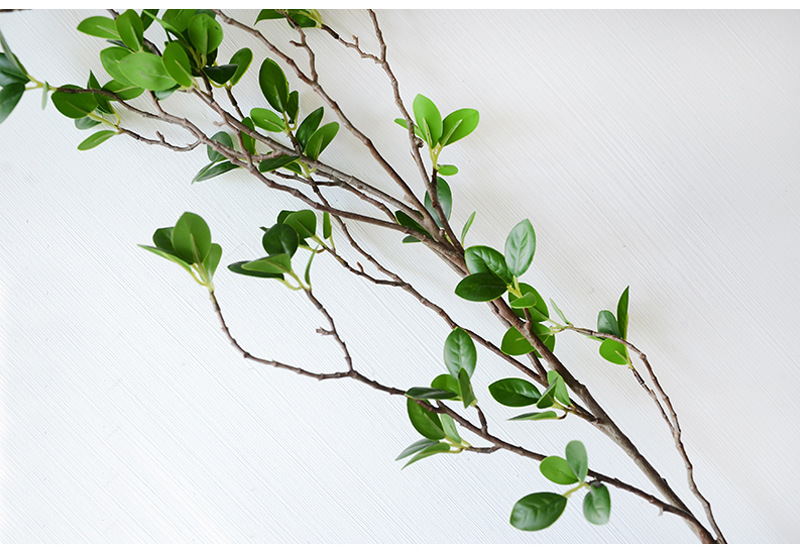 Artificial Flower Leaf Green Plant Branches Simulation Branch Artificial Plant Leaves Wedding Decorative Bouquet DIY material (16)