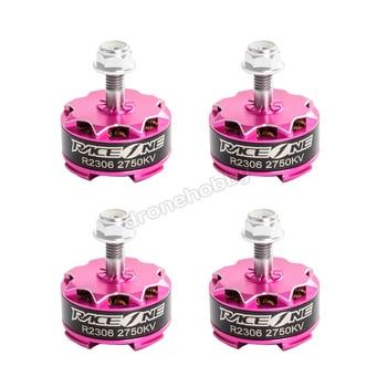 4pcs/lot RaceOne R1 R2306 2400KV 2750KV 3-4S Brushless Motor for FPV Racing mini drone - Rose pink