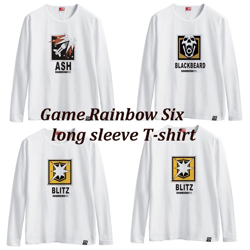 Game Rainbow Six Siege A T-shirt with long sleeves cotton round collar T-shirt wite men and women in the summer E-sports games