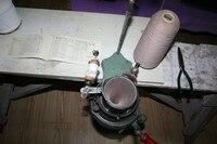 Working Semiautomatic Socks Machine Butterfly Brand Hand Socks Machine