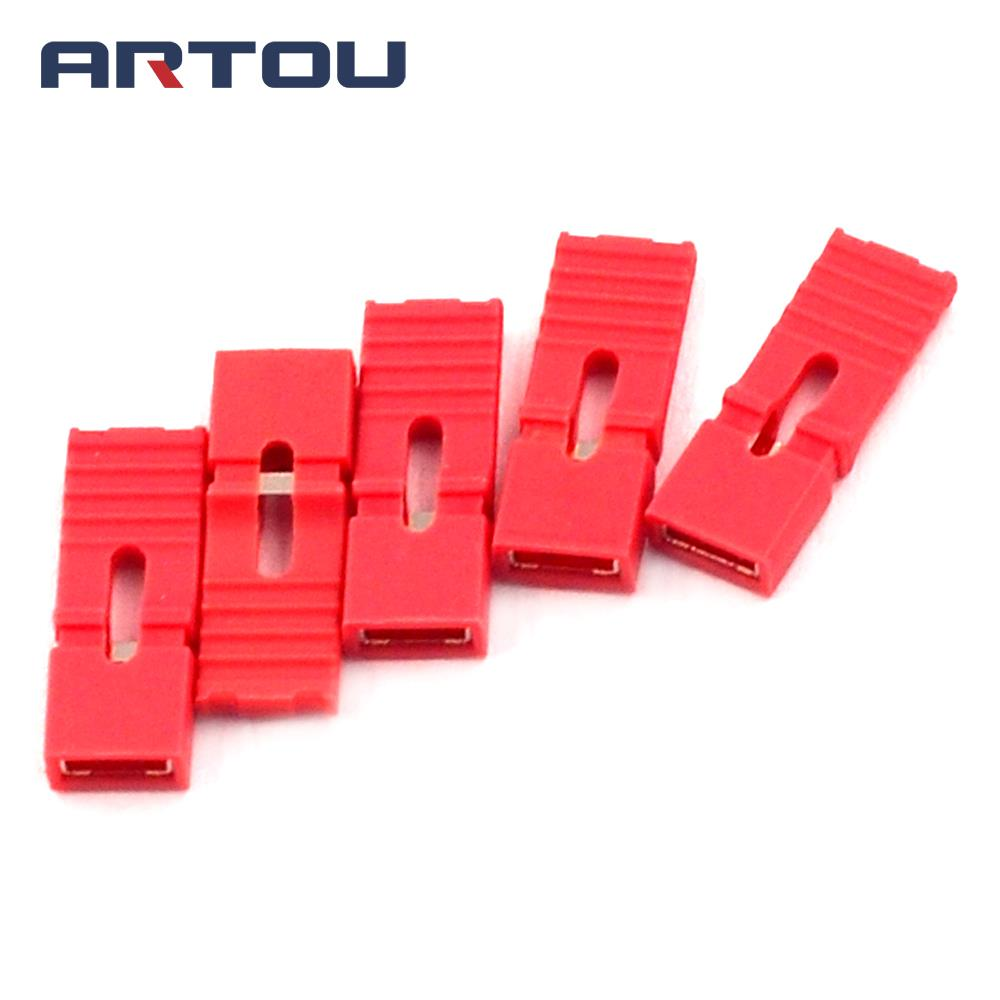 200PCS Lengthened Jumper Cap Long Handle Jumper Cap Red 2.54mm